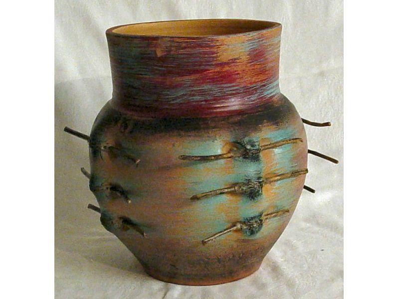 kerámia kaspó, váza :