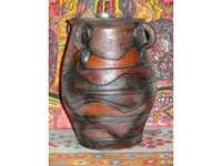 kerámia Afrikai füles padló váza
