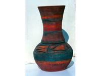 Hosszú nyakú indián váza