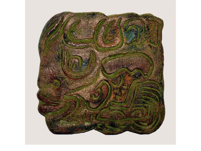 Antikolt táblakép kerámiából :