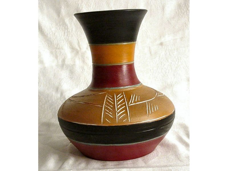 Nagy hasú indián váza :