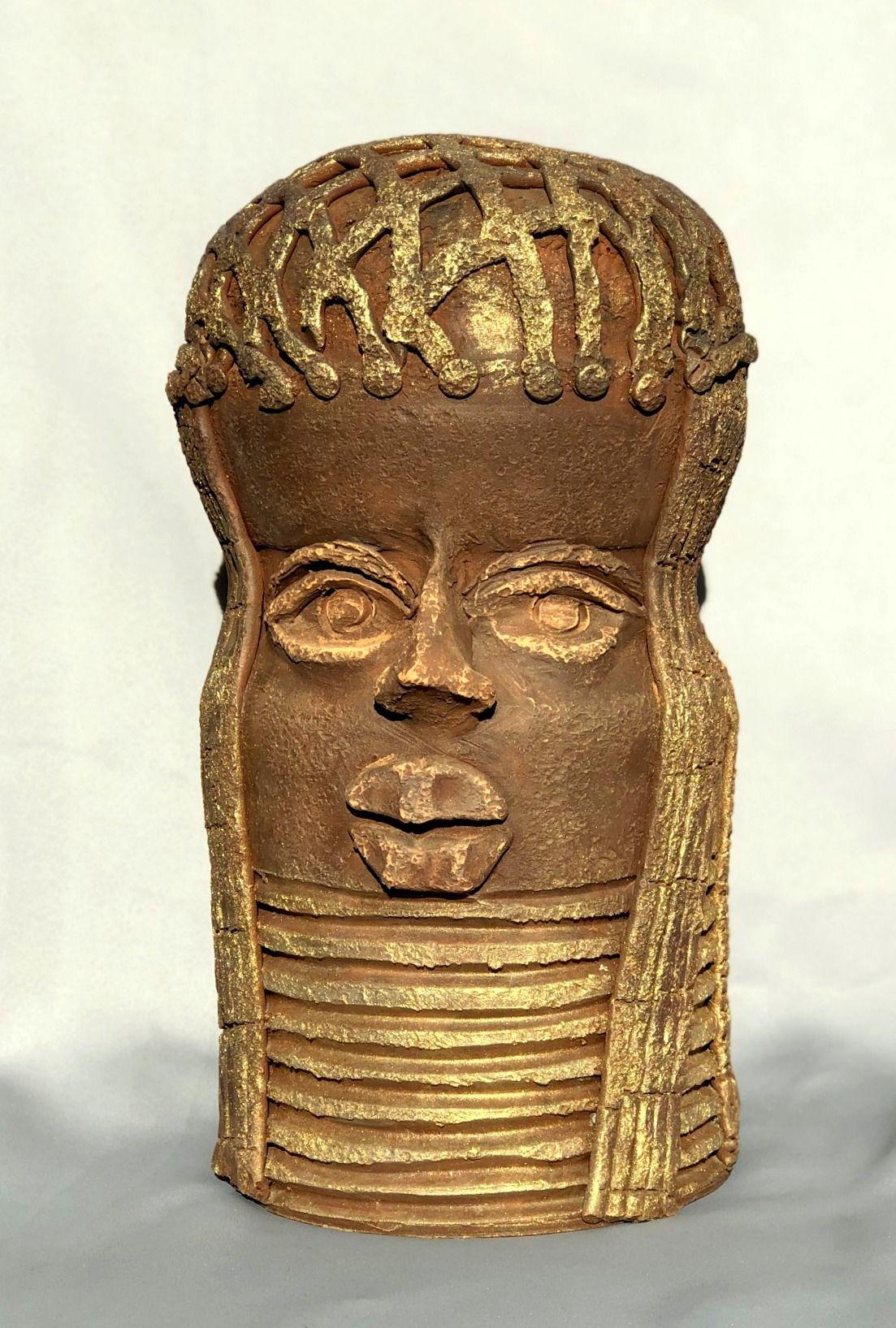 Afrikai szoborfej :