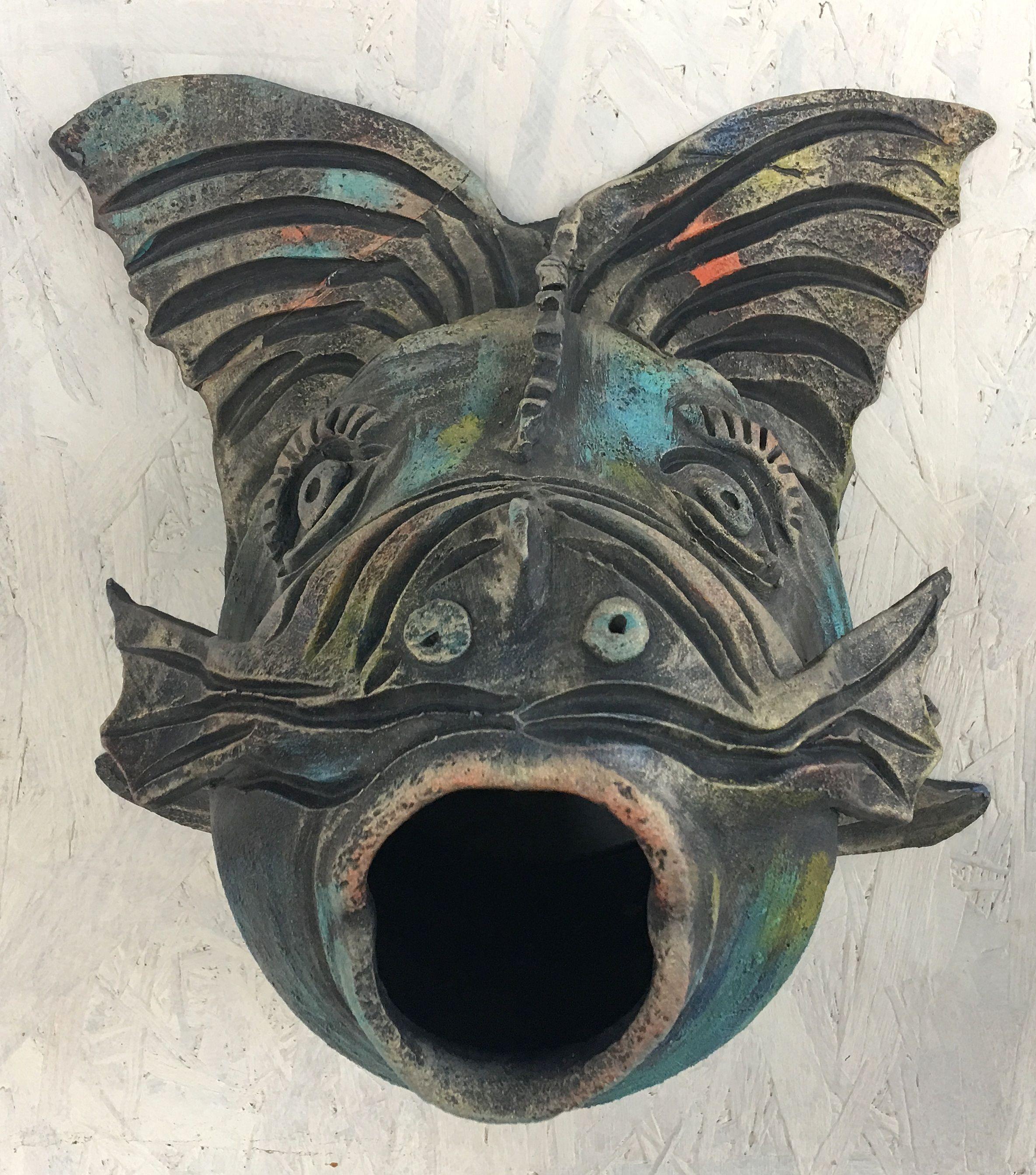 Hal vízköpő2 : fagyálló egyedi elképzelés alapján készülő hal ördög fej vízköpő
