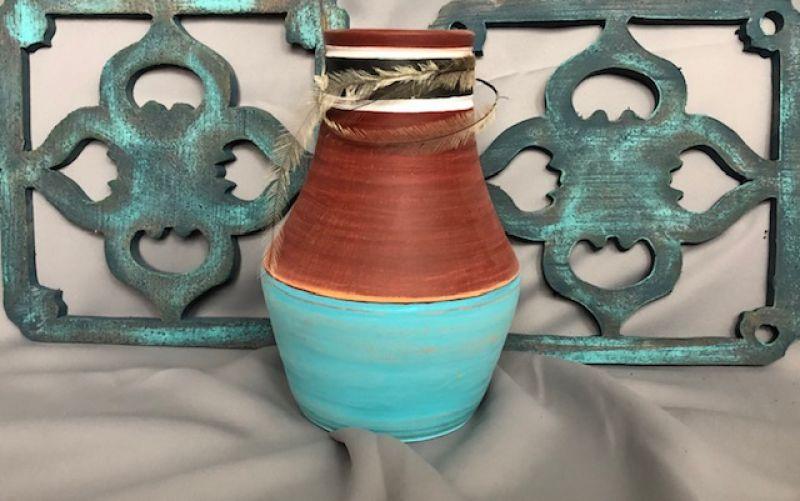 Mexikói türkíz váza :