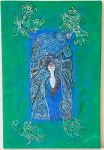 kék zöld falikép