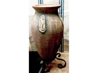 Kerámia Amfóra kovácsolt vassal
