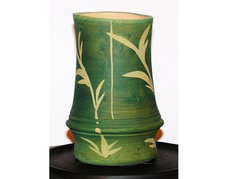 Kerámia bambusz váza :