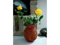 Váza rózsával