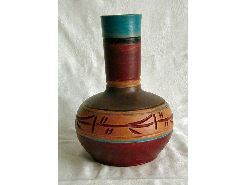 Indián hosszú csövű váza :