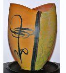 Japán váza kézi festés