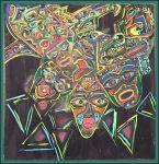 Indián maszk festmény