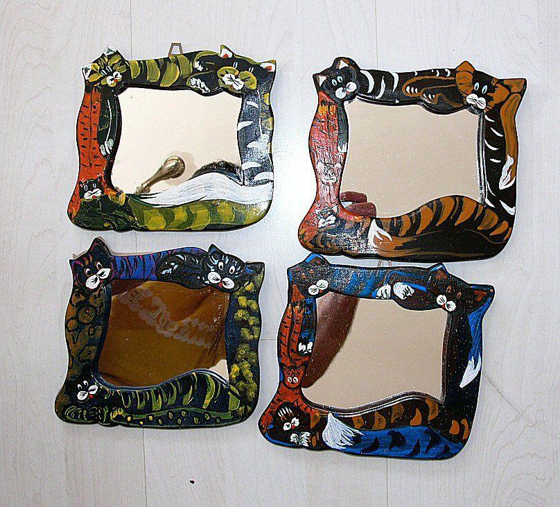 Cicák1 : tükrös fali cicák