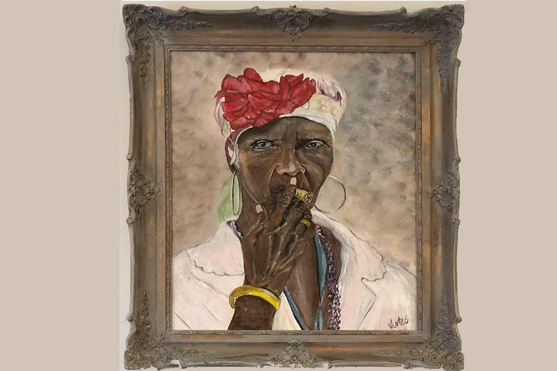 Szivarozó kubai nő :